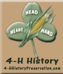image: 4-H History Preservation clover graphic