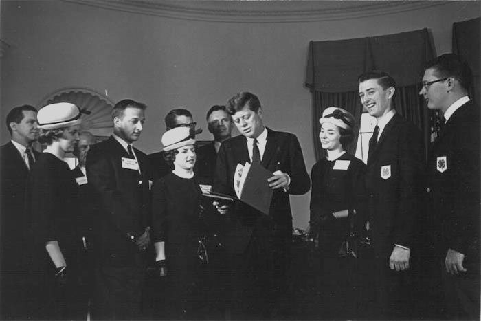 1963 Report to the Nation Team with President Kennedy