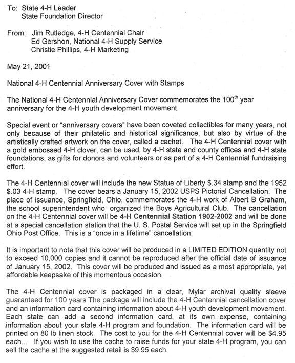 National 4-H Stamp