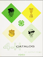 1961 Supply Catalog Cover